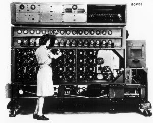 Il dispositivo 'bombe' di Alan Turing